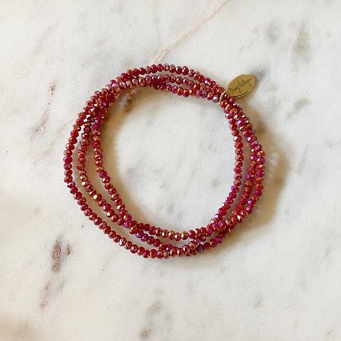 Maroon Set of 3 Bracelets