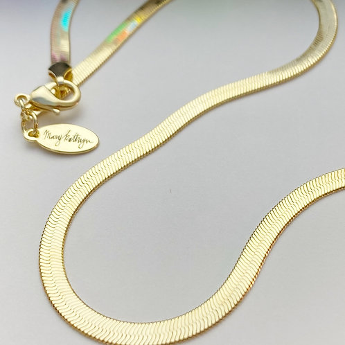 """Gold Snake Chain (18"""")"""