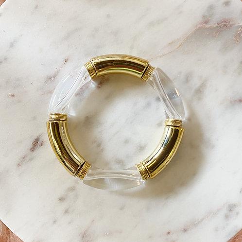 Kari Clear & Gold Bangle