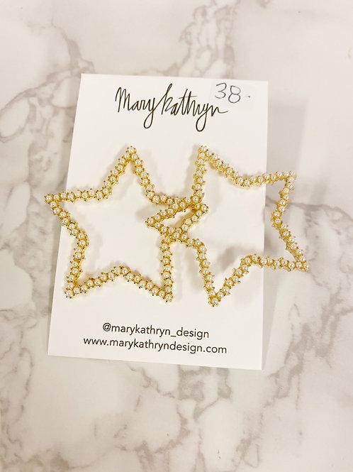 Pear Star Earrings (large)