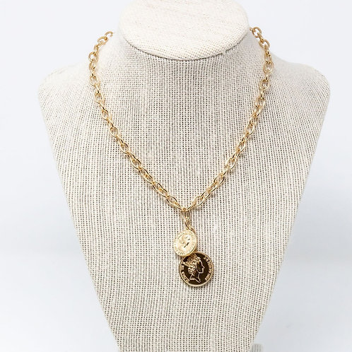 Double Royalty Coin Necklace