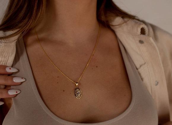 Nicolette 14k Guadalupe Saint Necklace