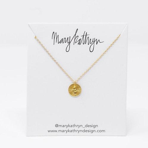 Gold Snake Medallion