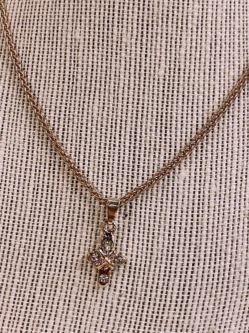 Cross Rhinestone Necklace