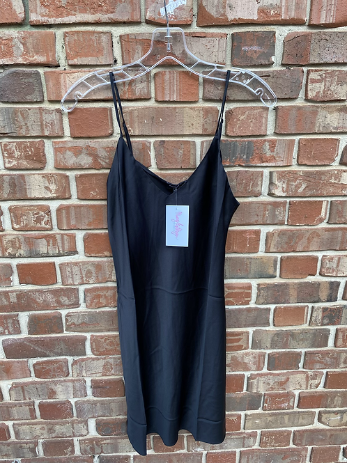 Black Silk Slip Dress
