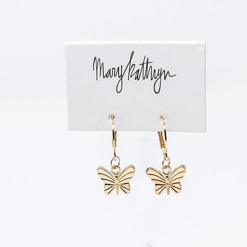 Butterfly Huggie Earrings