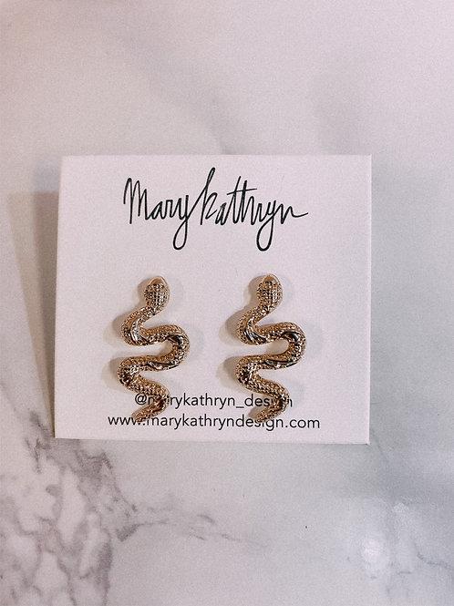 Medium Sized Snake Earrings (sale)