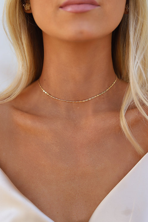 Gold Simple Necklace // Golden Galaxy // Mace & Chlo Collection