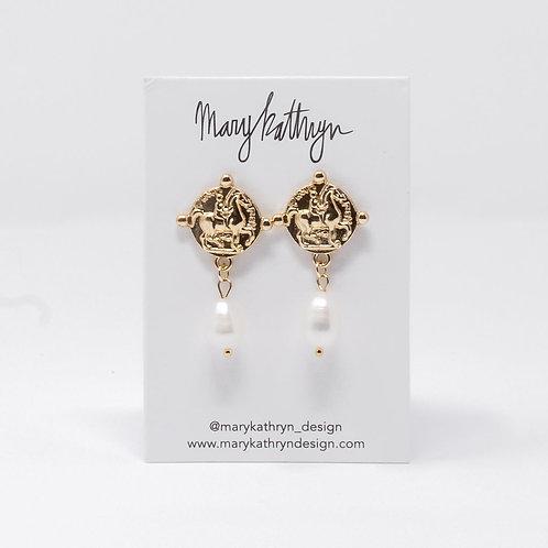 Maggie Pearl Earrings