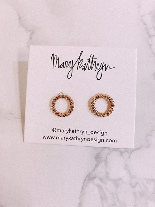 Knotted Circle Earrings