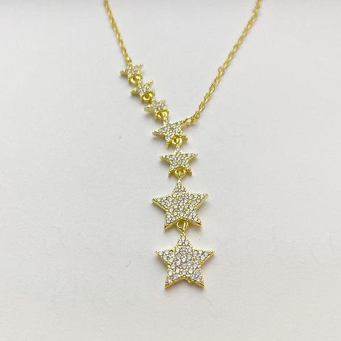 Rhinestone Star Drop Necklace