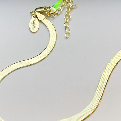 """Gold Snake Chain (12-14"""")"""
