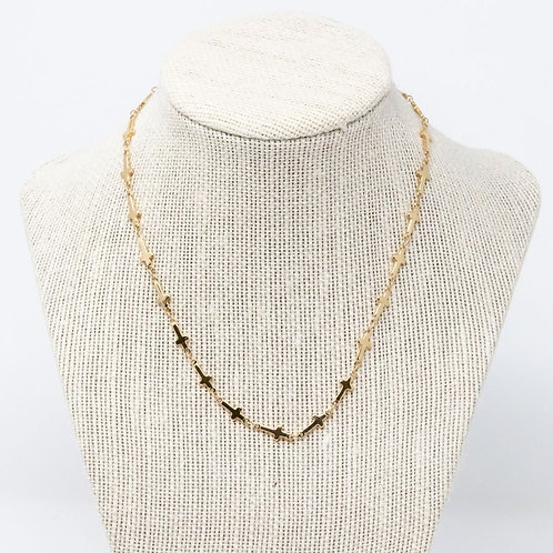 Gold Plated Cross Chain