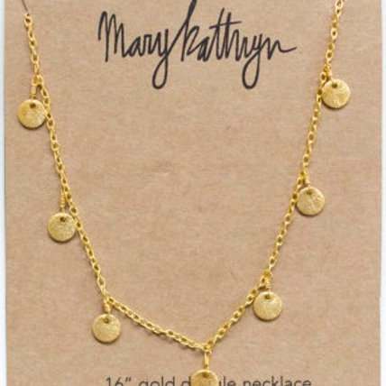 Gold Dangle Necklace