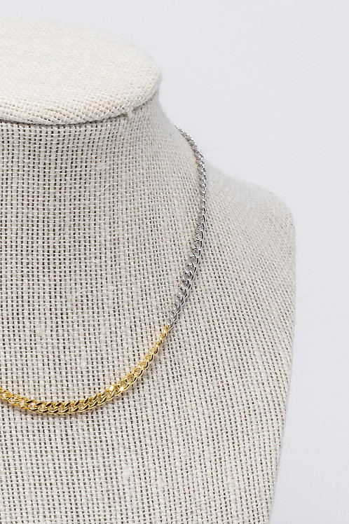 Two Toned Gold Silver Chain