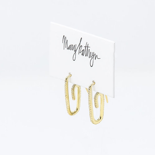 Rhinestone Paperclip Earrings
