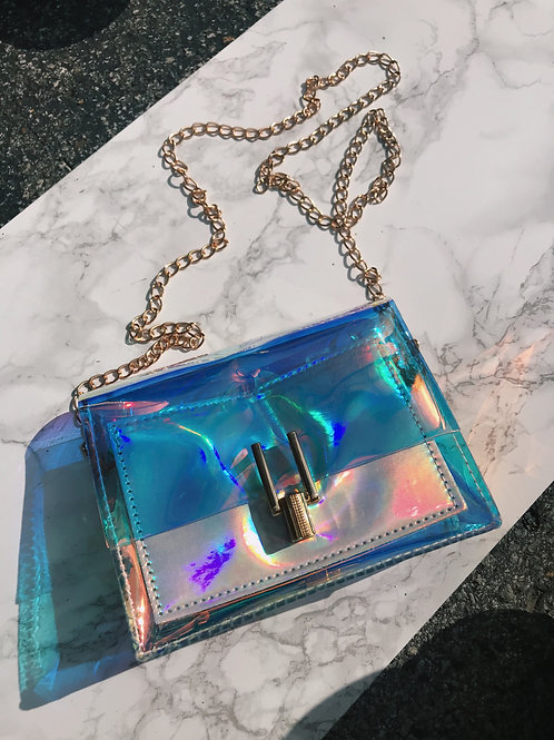Clear Holographic Purse