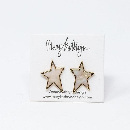 Medium Shell Star Studs
