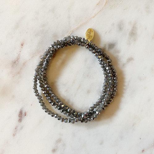 Navy Set of 3 Beaded Bracelets