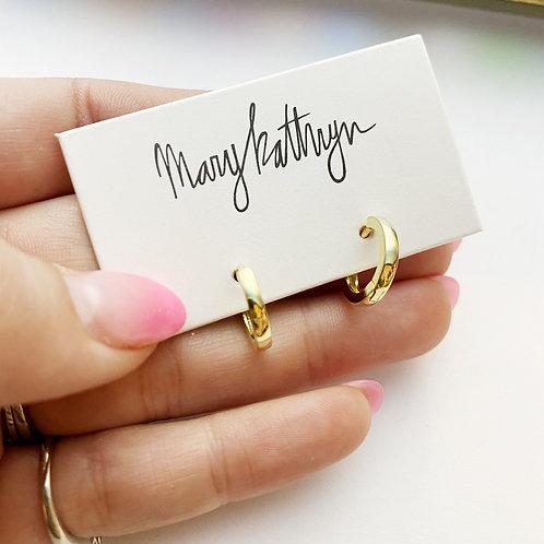 Mini Gold Huggies