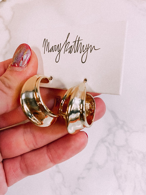 Gold Plated Fancy Hoops