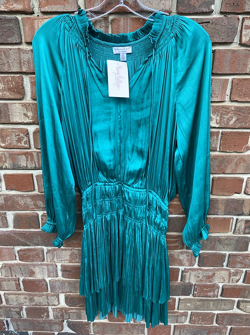 Teal Sinched Waist Dress