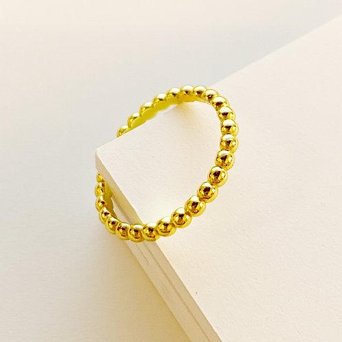 Gold Ball Ring