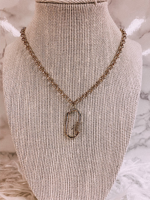 Rhinestone Clasp Necklace