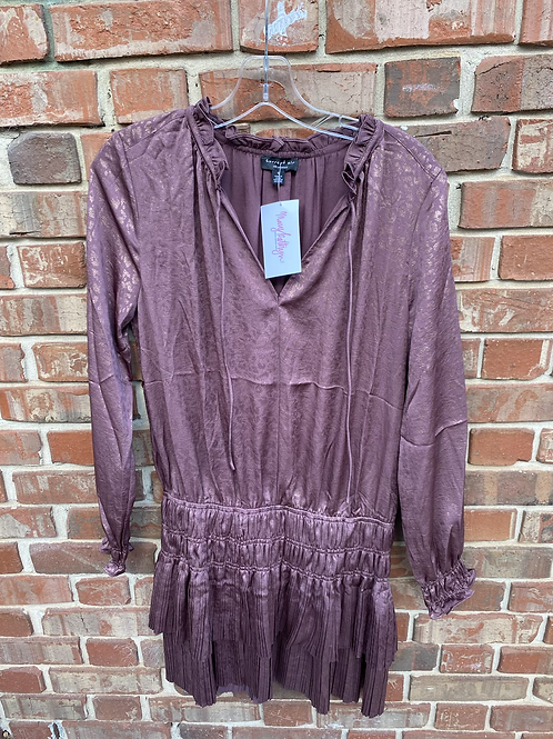 Mauve Cheetah Print Dress with Sinched Waist