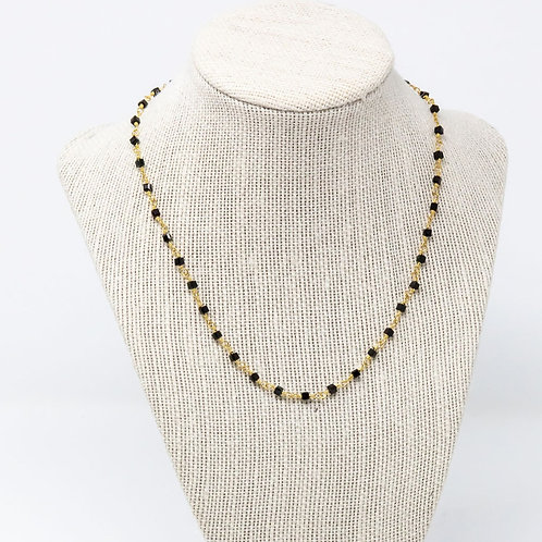 Black Square Necklace
