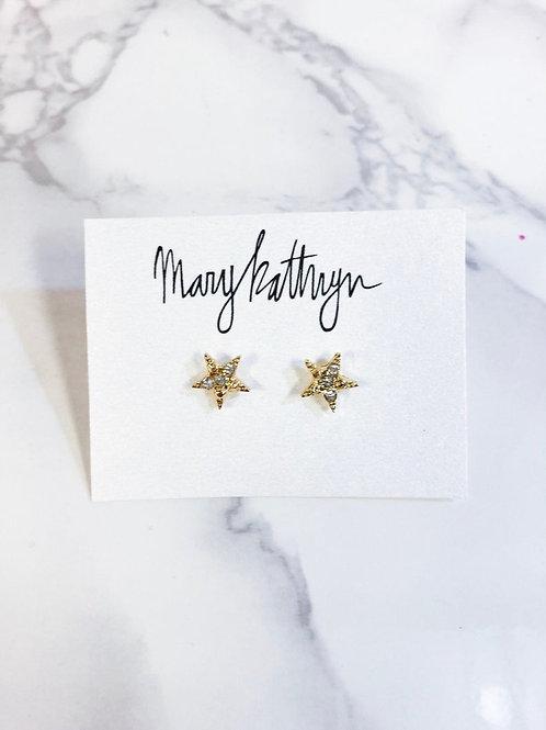 Rhinestone Star Studs