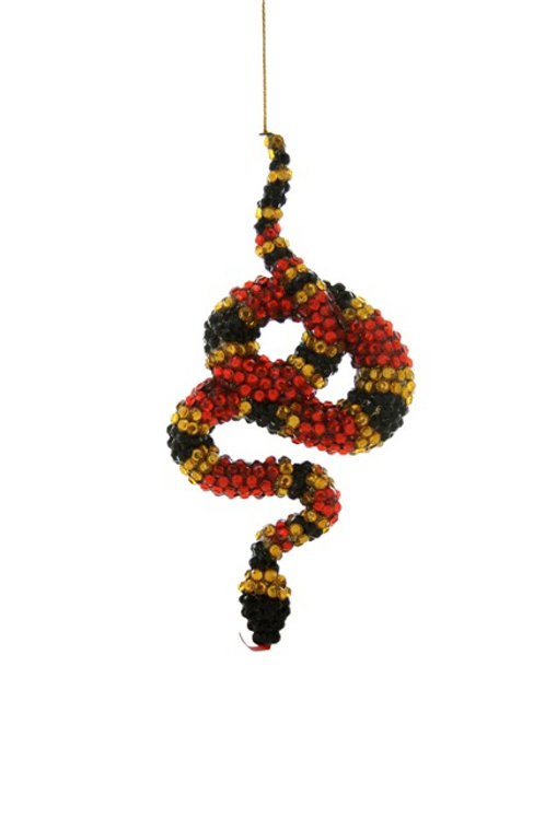 Jeweled Coral Snake Ornament