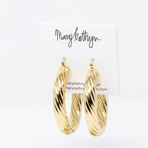 Big Hollow Twisted Hoops