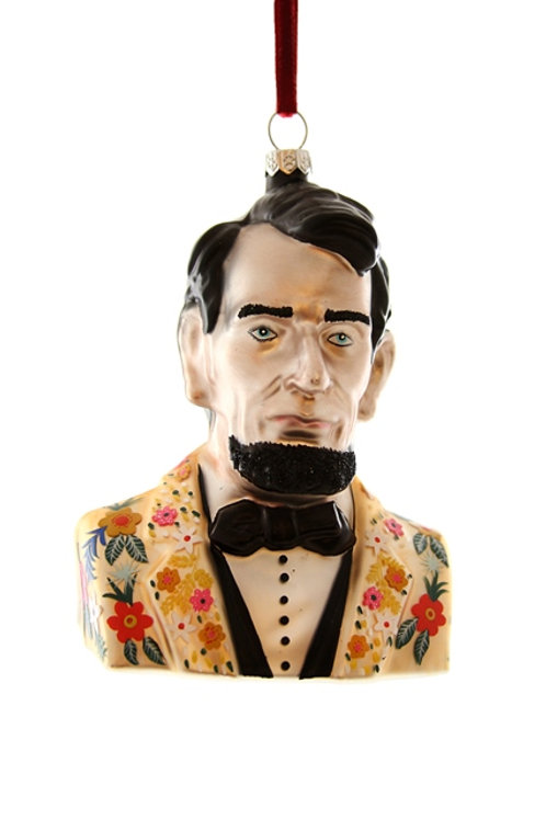 Hipster Abraham Lincoln Ornament