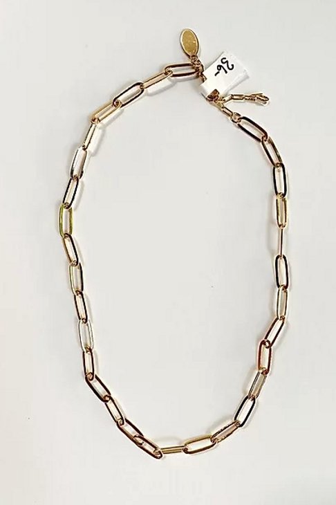 Medium Weight Gold Link Chain