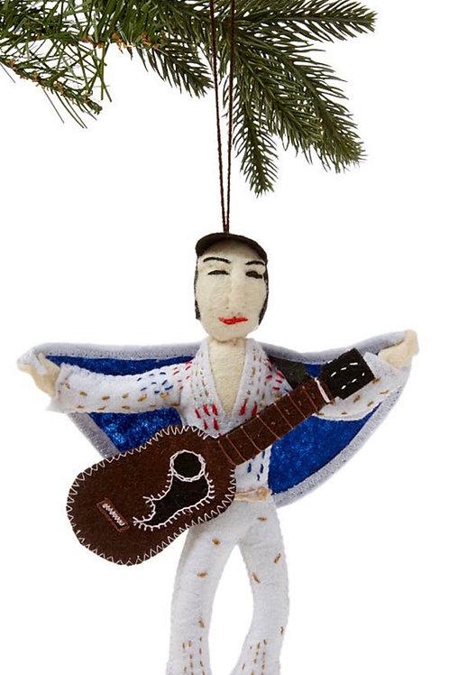 Elvis Felt Ornament