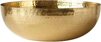 Metal Bowl -copper or gold color  14 in