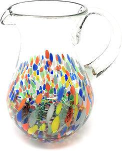 Glass Pitcher - Confetti Rainbow   60.jp