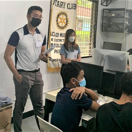 Rotary launches computer training at boys' home