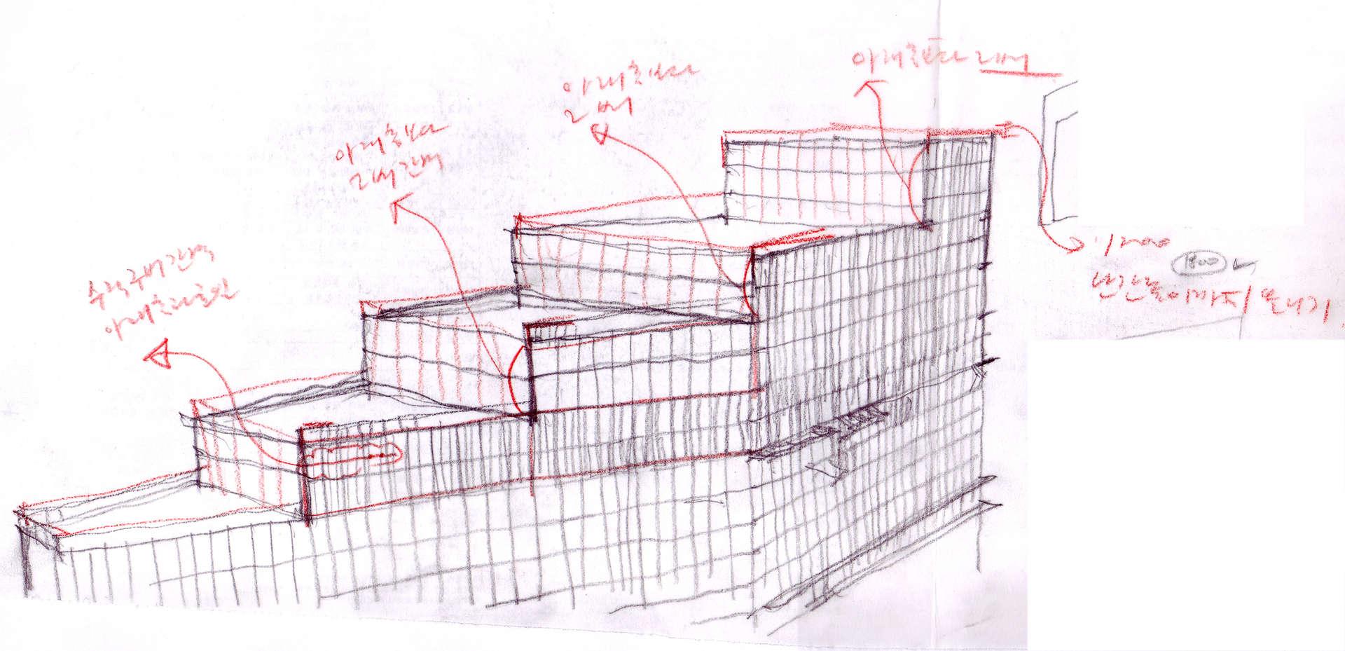 옥상정원 스케치