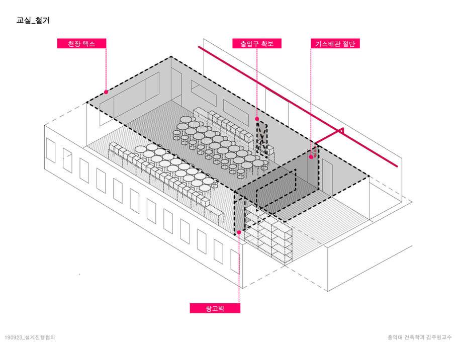 교실 철거계획