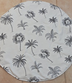 Palm Tree - Black and cream -Play mat