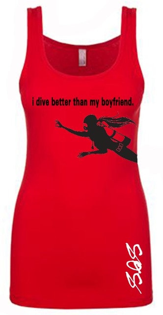 I Dive Better Than My Husband Tank Tops