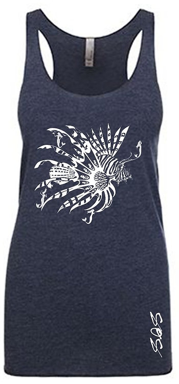 Mermaid Lionfish Diver Tank Tops