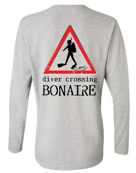 Diver Crossing Bonaire Long Sleeve T-Shirts
