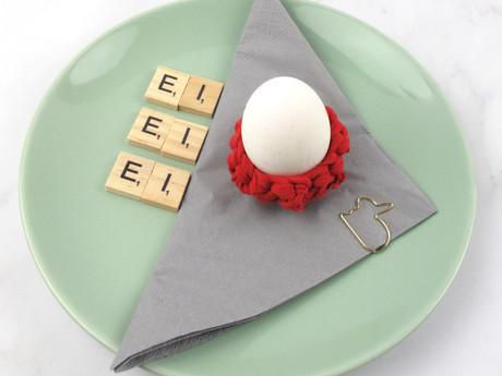 DIY on TV: Eierbecher häkeln mit selbstgemachtem Textilgarn