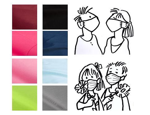 Mund-und Nasenmaske - Unifarben vers. Farben