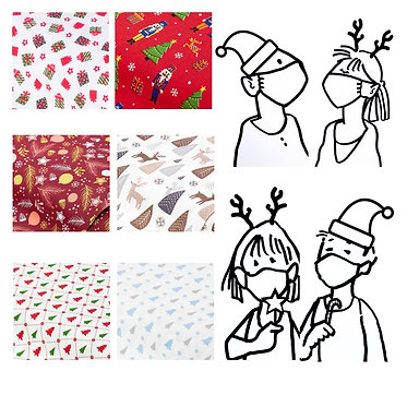 Weihnachten: Mund-und Nasenmaske - Kinder & Erwachsene