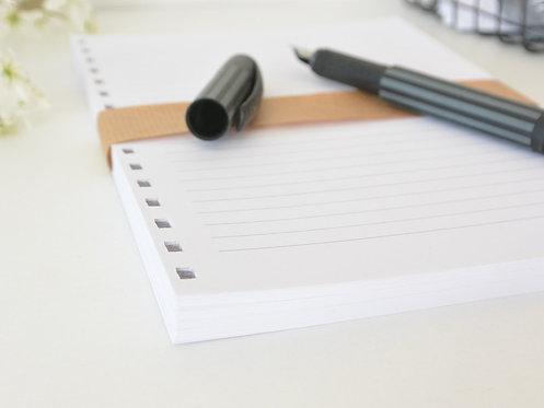 Nachfüllset Papier für Notizbuch // 3 Varianten