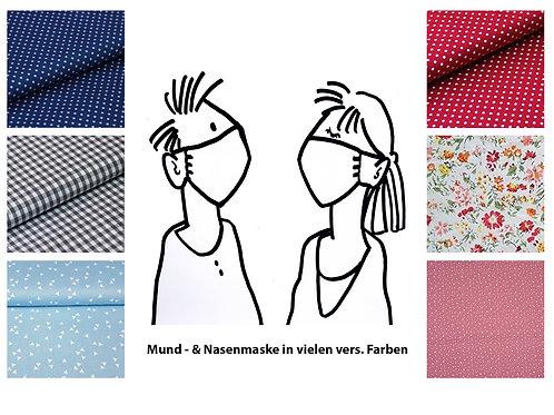 Mund-und Nasenmaske - vers. Muster